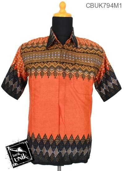Baju Batik Kemeja Batik Rang Rang 1670 Murah baju batik kemeja katun motif rang rang tumpal kemeja