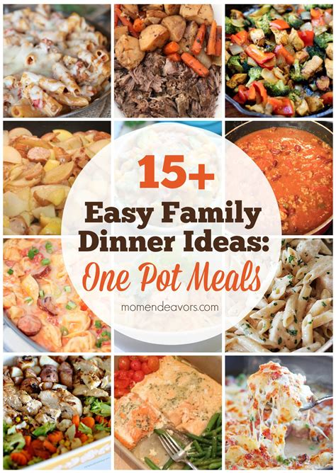 one pot dinner recipes 15 easy one pot family dinners