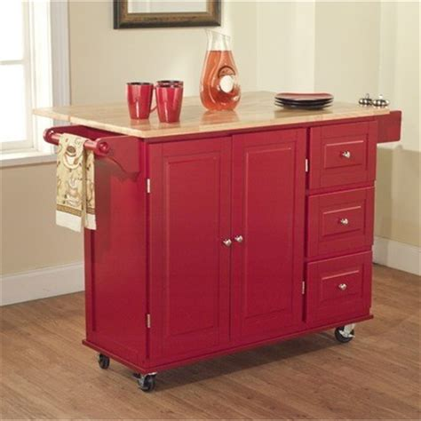 red kitchen island cart tms kitchen cart with three drawers red traditional