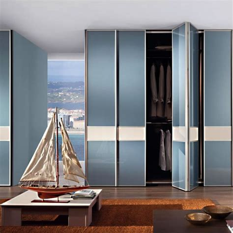 Multi Fold Closet Doors by Aries Bi Fold White And Blue Closet Door 005 Frosted Glass
