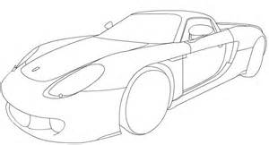 Line Drawing Porsche Carrera Gt Sketch Coloring Page sketch template