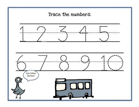 printable numbers from 1 10 free 1 10 tracing coloring pages