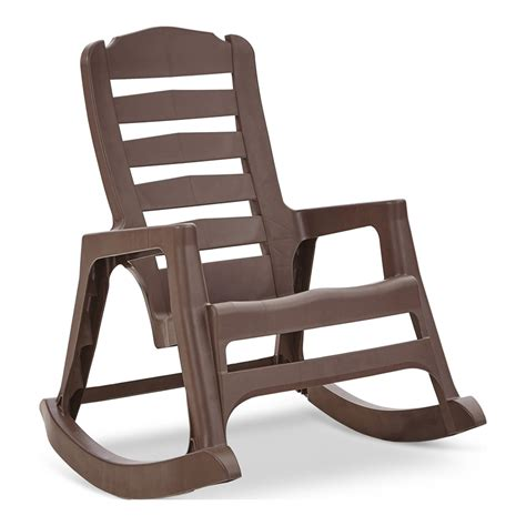 adams mfg corp stackable plastic rocking chairs  solid seat  lowescom