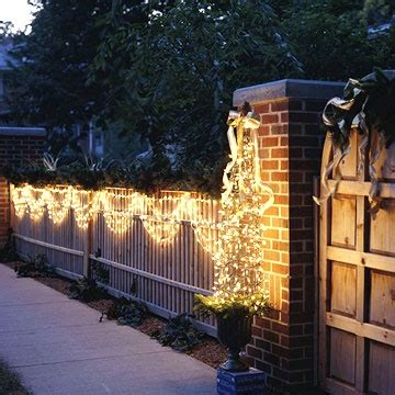 christmas staked fences 17 best images about outdoor lighting on trees window boxes and