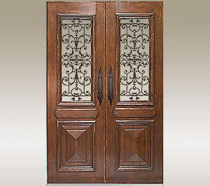 Wood Entry Doors With Glass And Wrought Iron