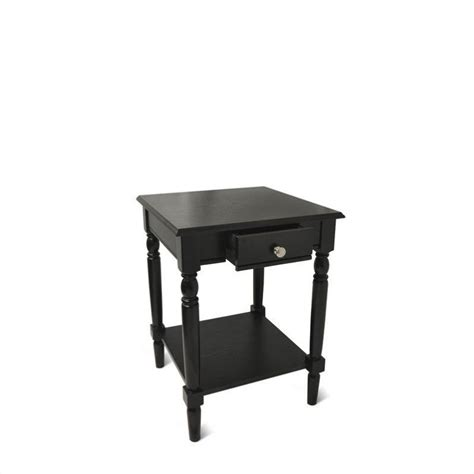black end table with drawer end table with drawer and shelf black 6042185bl