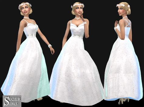 Wedding Content by My Sims 4 Wedding Dress By Segersims