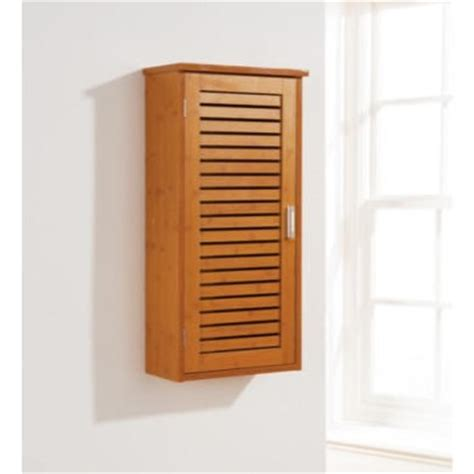 mountrose sumatra bathroom wall cabinet in bamboo