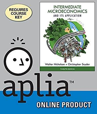 Intermediete Microeconomics And Its Application By Walter Nicholson aplia for nicholson snyder s intermediate microeconomics and its application 12th
