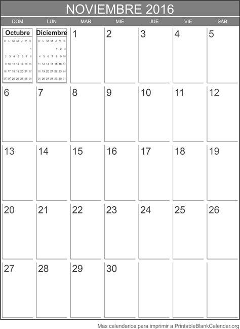 Calendario Noviembre 2016 Noviembre 2016 Calendario Para Imprimir Calendarios Para