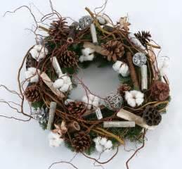 Xmas Home Decorating Ideas xmas wreath with cotton angel flowers london florist