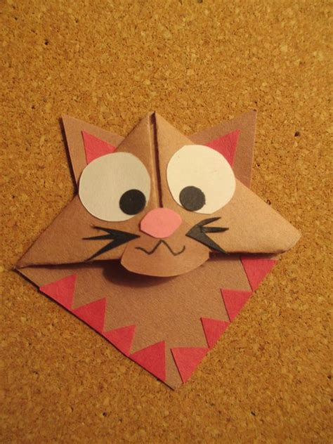 Origami Cat Bookmark - cat bookmark handmade origami bookmarks