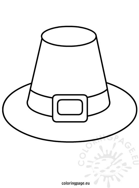 pilgrim hat template coloring page