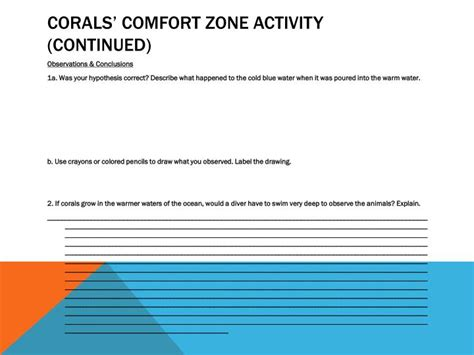 comfort zone activities ppt coral reefs powerpoint presentation id 2262250