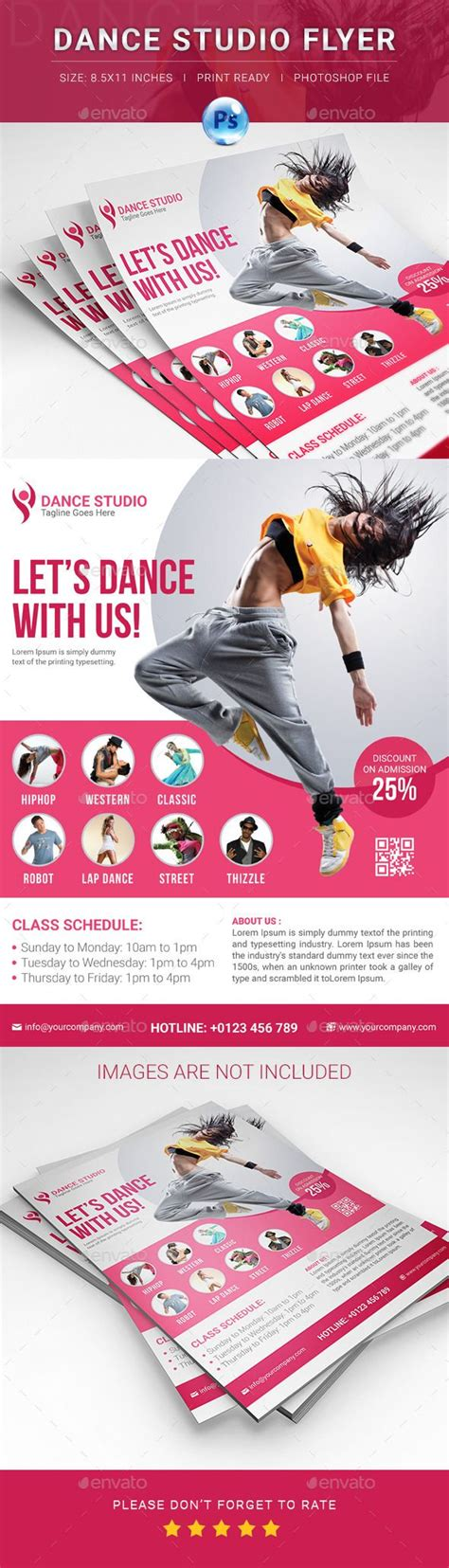templates for dance flyers dance studio flyer advertising design and dance