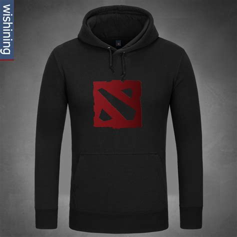 Hoodie Zipper Dota 2 Defense Of The Ancients cool dota 2 logo design hoodie black hooded clothing for