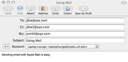 send  email  mail mac tech ease