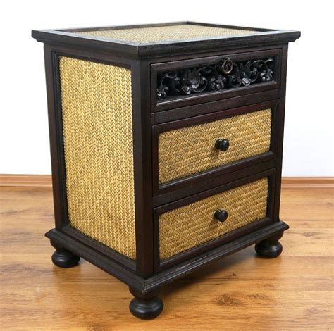 Solid Wood Handmade Furniture - asian chest of drawers solid wood and rattan furniture