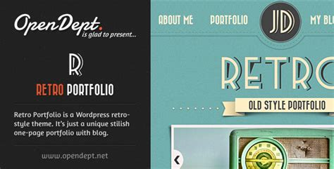 themes wordpress vintage free retro portfolio one page vintage wordpress theme