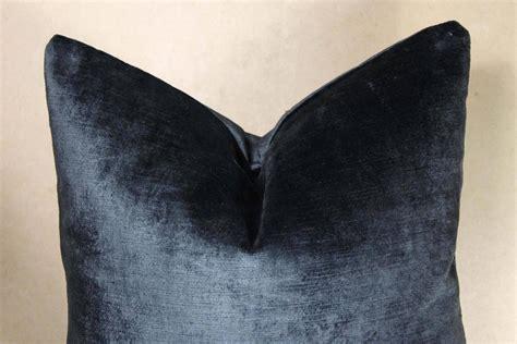 Navy Velvet Pillow by Navy Velvet Pillow By Amanda Hamilton At 1stdibs