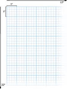 alvin cross section paper with 4 x 4 grid 17 quot x 22 quot no