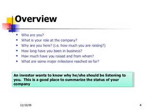 Business Overview Template Investor Presentation Template