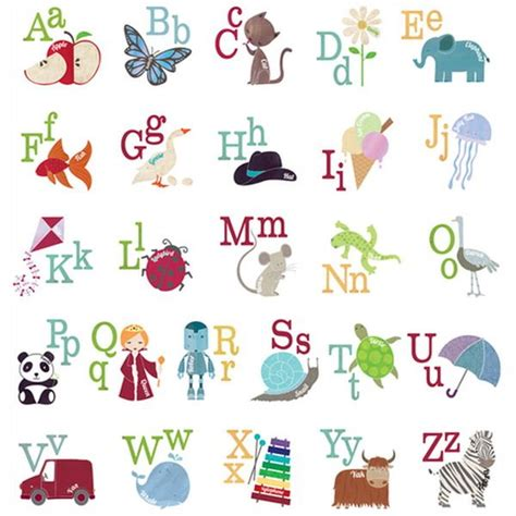 Alphabet Wall Decals For Nursery Alphabet Pictures For Nursery Room Nursery Decor Nursery Room Nurseries And