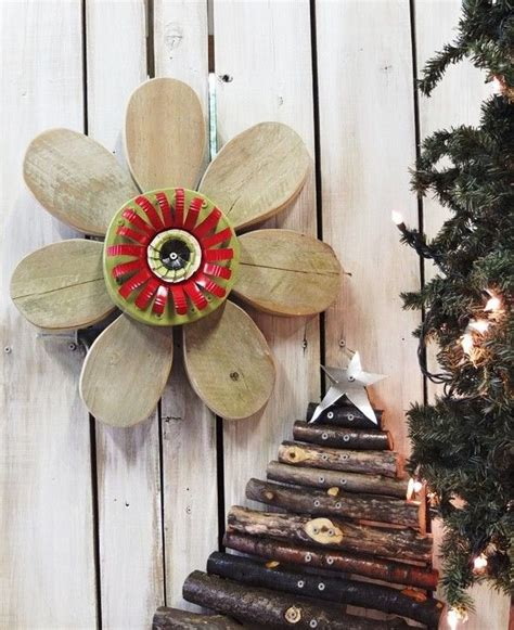 Idea For Wood Metal Mix Decorations by Pin By Connie Demerchant On Wooden Flowers Pinterest