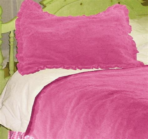 hot pink twin comforter hot pink chenille comforter set available in twin to