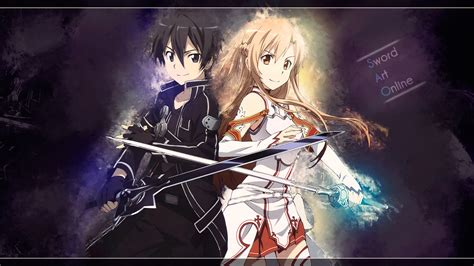 wallpaper laptop sao kirito and asuna sword art online hd wallpaper desktop