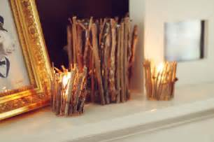 beautiful diy wood sticks candle holders