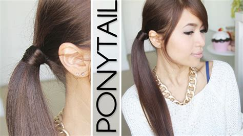 hairstyles using hair ties hair wrapped ponytail no bobby pins hairstyle hair