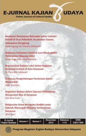 e jurnal e jurnal kajian budaya online journal of cultural studies