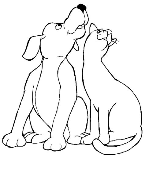coloring pages with dogs and cats free printable cat coloring pages for
