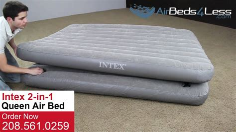 size 2 in 1 intex air bed