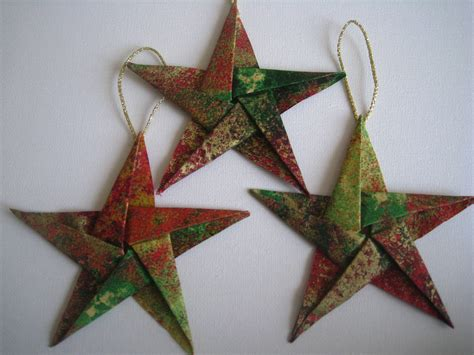 Origami Tree Ornaments - tree decorations origami holliday decorations