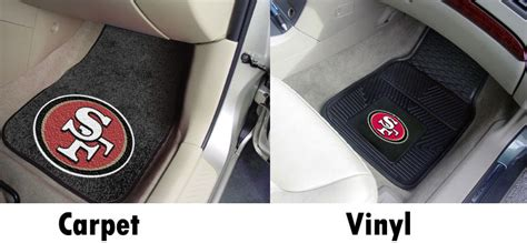 49ers seat covers and floor mats nfl floor mats seat covers unlimited