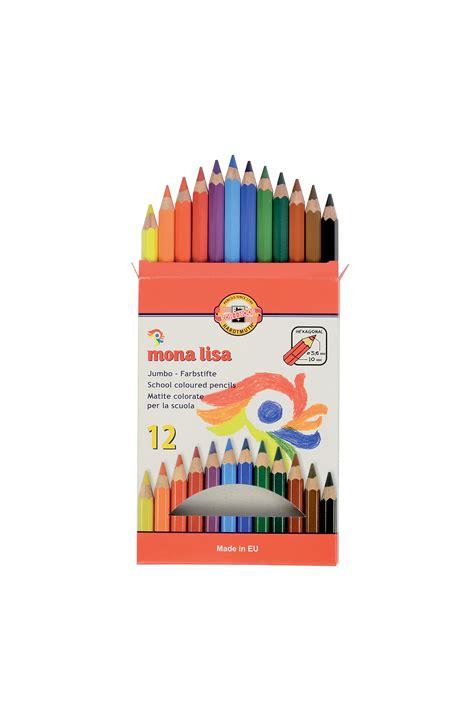 Kaos Jumbo Monalisa Set Of Jumbo Coloured Pencils 3372 12 Mona Koh I