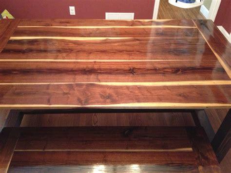 black walnut farmhouse table ana white