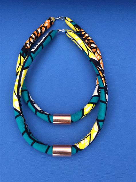 diy african rope necklace diy ankara rope necklace tribeappeal
