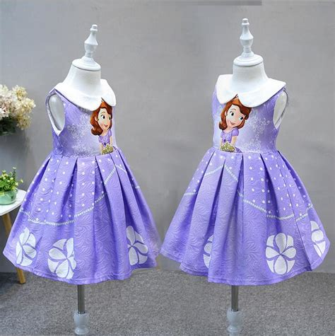 Princess Sofia Dress Halloween Jacquard Dress Baby Girl Princess Costume From Sofia The Printable