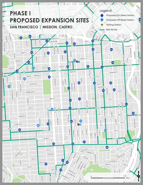 san francisco map castro milestone reached in bay area bike expansion