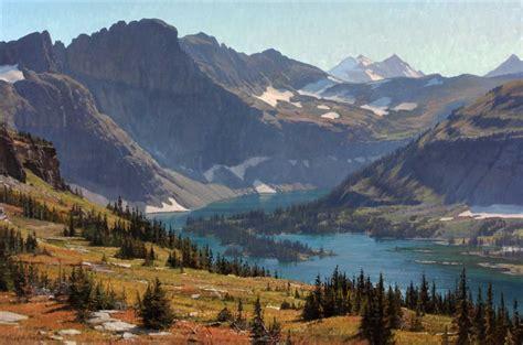 painting montana lake montana landscape giclee