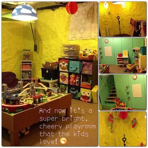 unfinished basement playroom makeover basement makeover