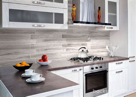 modern backsplash for kitchen modern silver gray long subway marble backsplash tile