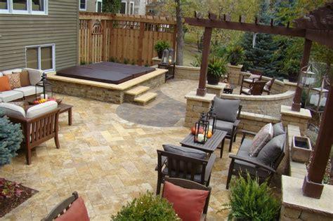 tub backyard design ideas backyard retreat traditional patio minneapolis by