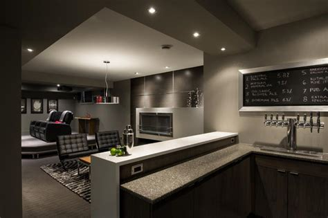 modern basements 22 finished basement contemporary design ideas
