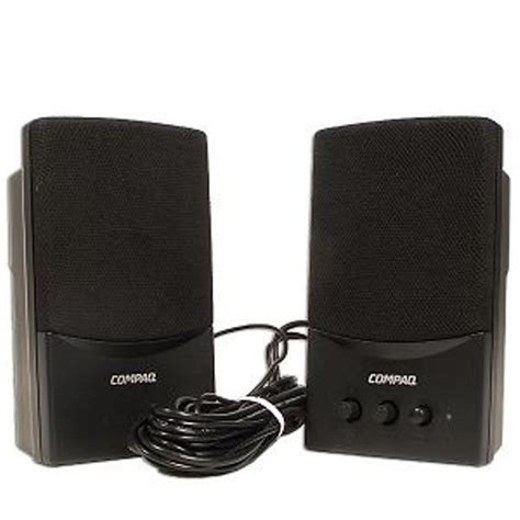 Speaker Laptop Compaq compaq 5069 6274 flc presario black wired computer speaker system w usb ebay