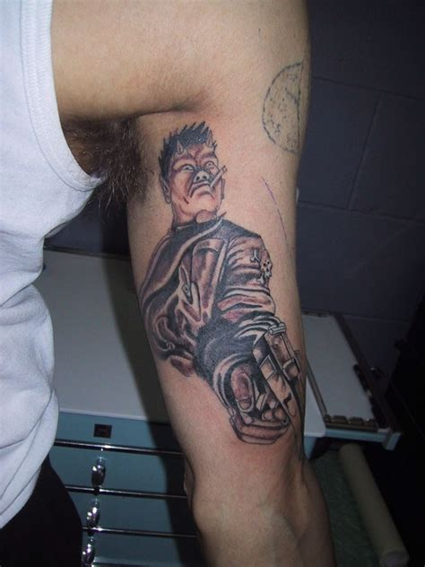 jesus gun tattoo funny looking old school arm tattoo od smoking devil with