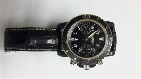 Jam Tangan Montblanc 9 jam tangan for sale montblanc meisterstuck diver chronograph pvd coated sold